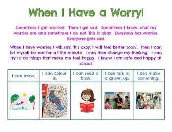 Working Through Worries Chart
