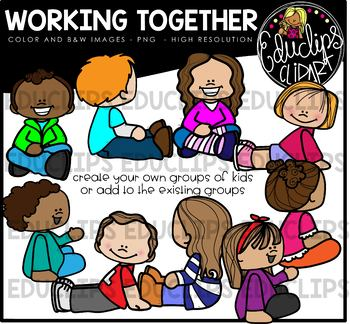 Working Together Clip Art Bundle {Educlips Clipart}