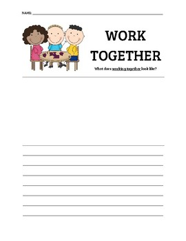 Working Together Writing Activity