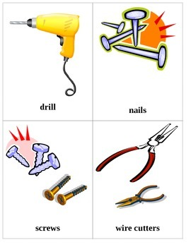 Working Tools Flash Cards