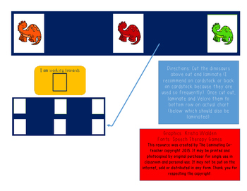 Working Towards Dinosaur Chart (Great for Special Ed)! 3 D