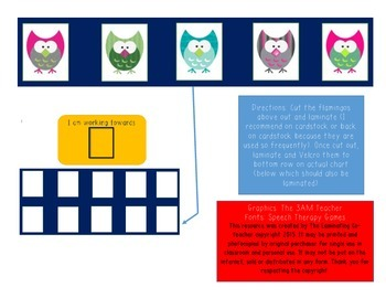 Working Towards Star Chart (Great for Special Ed)! 5 Owl Edition