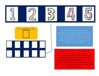 Working Towards Star Chart (Great for Special Ed)! Numbers 1-5 Edition