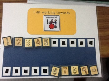 Working Towards Star Chart (Great for Special Ed)! Numbers 1-10 Edition