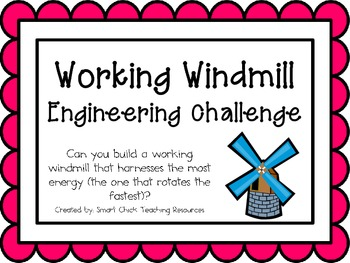 Working Windmill: Engineering Challenge Project ~ Great STEM Activity!