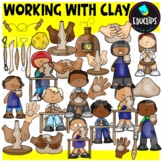 Working With Clay Clip Art Set {Educlips clipart}