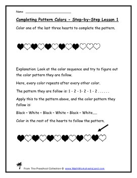 Working With Color Patterns Teacher Worksheet Pack