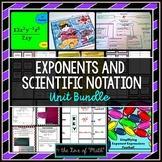 Exponents and Scientific Notation Unit Bundle