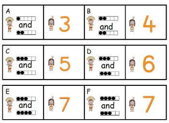 Working With Five Frames and Ten Frames and Addition to 10  Columbus Theme