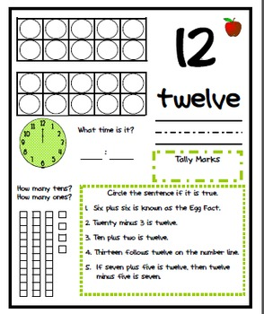 Working With Numbers 1 through 12