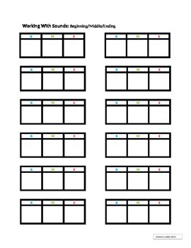 Working With Sounds - Phoneme Segmentation/Onset & Rime/Blending