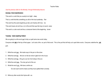 WORD WALL WORDS Week 6 Lessons