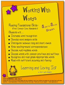 Working With Words - Bundle