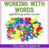 Working With Words Center Activities
