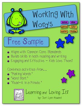 Working With Words - Free Sample
