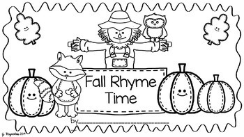 Working With Words Literacy Pack--Falling Into A Rhyming Good Time