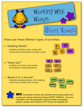 Working With Words - Short Vowels