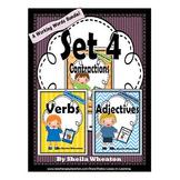 Working Words Bundle Set 4: Contractions, Verbs, Adjectives