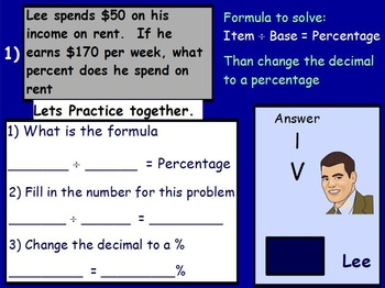 Using Percents - Working a Budget Mathematics (worksheet included) (SMART BOARD)