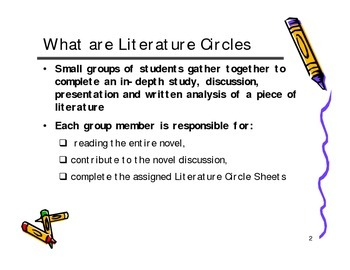 Working effectively in groups and Literature circle group assignment