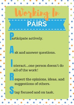 Working in Pairs