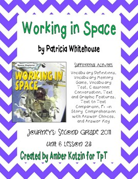 Working in Space 2nd Grade Journeys Unit 6, Lesson 28 © 2011