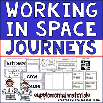 Working in Space Journeys 2nd Grade Unit 6 Lesson 28 Activities & Printables