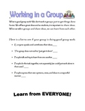 Working in a Group Expectations