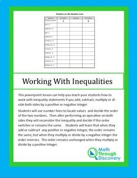 Working on Inequalities