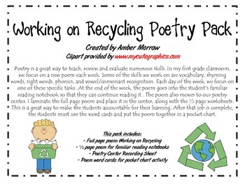 Working on Recycling Poetry Pack
