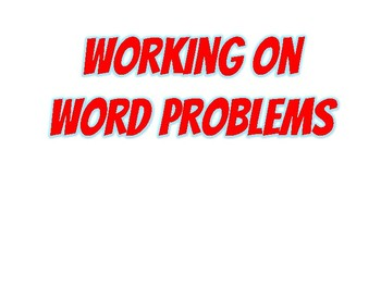 Working on Word Problems