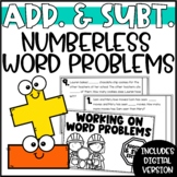 Addition & Subtraction Differentiated Numberless Word Problems