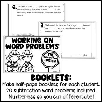 Differentiated Word Problems: Subtraction