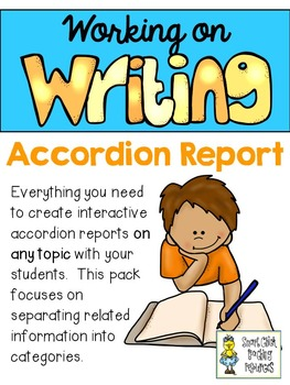 Working on Writing - Accordion  Report Layout for ANY Topic