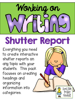 Working on Writing - Shutter Report Layout for ANY Topic