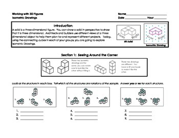 Working with 3D Figures: Isometric, Orthogonal, and Foundation Drawings
