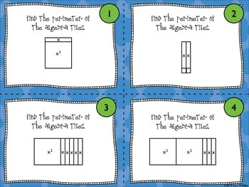 Working with Algebra Tiles -Perimeter and Area