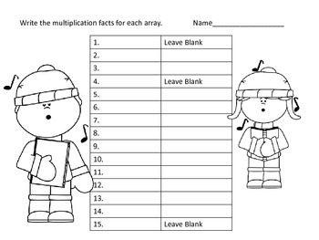 Arrays in Multiplication -- Christmas Theme