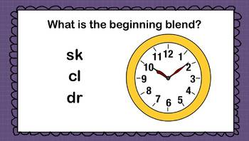 Working with Beginning Blends Audio Power Point
