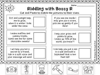 Working with Bossy R: An R-Controlled Vowels Practice Pack