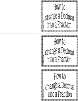 Working with Decimals - Foldables Galore Pack 2