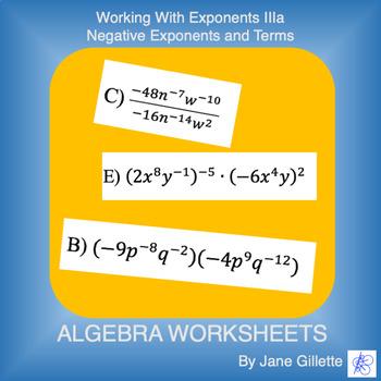 Working with Exponents IIIa