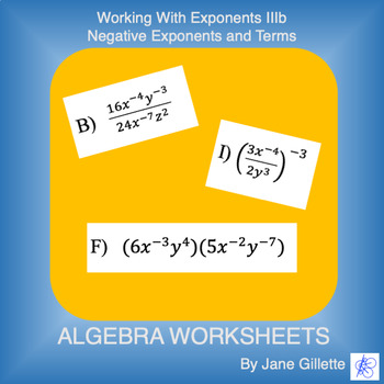 Working with Exponents IIIb