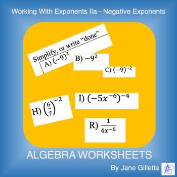Working with Exponents IIa