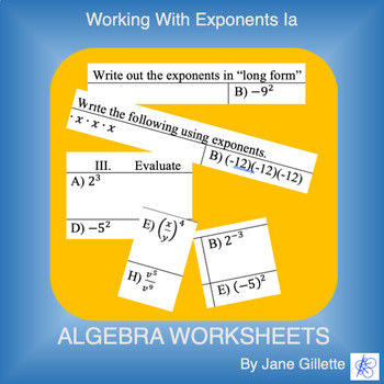 Working with Exponents Ia
