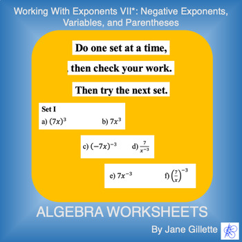 Working with Exponents VII*