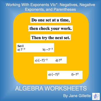 Working with Exponents VIc*
