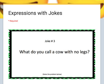 Working with Expressions – Google Form with Jokes!