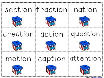 Working with Final Syllables: -tion and -ture