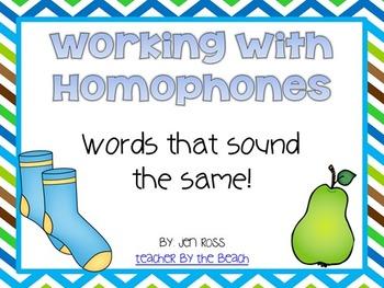Working with Homophones